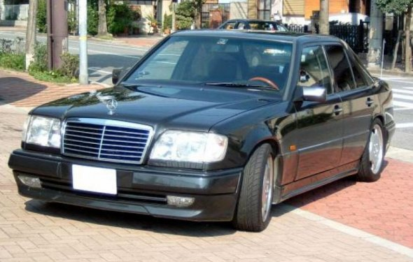 1993 Mercedes E Class W124 S600 Style Black with Chrome Strip