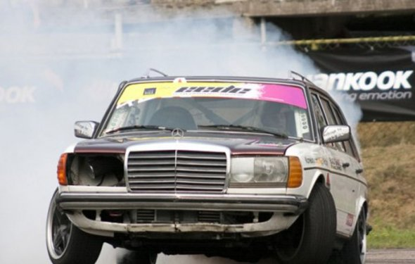 This Evil Diesel Mercedes Wagon Makes All Other Drift Cars Look