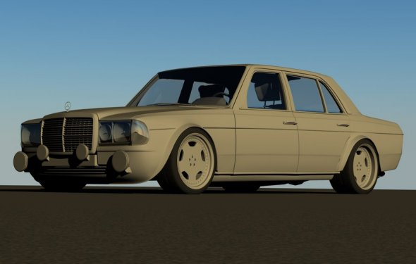 W123 AMG racecar clay render by Splicer436 on DeviantArt