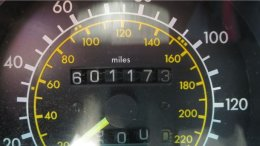 1987 Mercedes-Benz W201 190E in California wrecking yard, odometer - ©2017 Murilee Martin - The Truth About Cars
