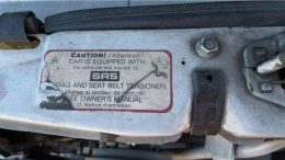 1987 Mercedes-Benz W201 190E in California wrecking yard, SRS warning decal - ©2017 Murilee Martin - The Truth About Cars