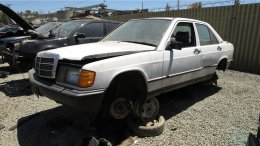 1987 Mercedes-Benz W201 190E in California wrecking yard, LH front view - ©2017 Murilee Martin - The Truth About Cars
