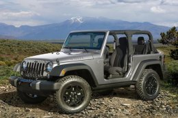 Roof down and doors off, the way a Jeep was meant to be driven.