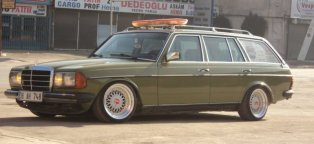 Old mercedes station wagon