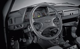 Welcome back to...well, whatever era it might have been when the Lada Niva's plastic and black rubber cabin once looked new and contemporary. If you love lots of levers, however, this is the classic SUV for you.